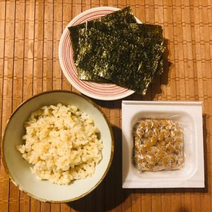 玄米_納豆_のり