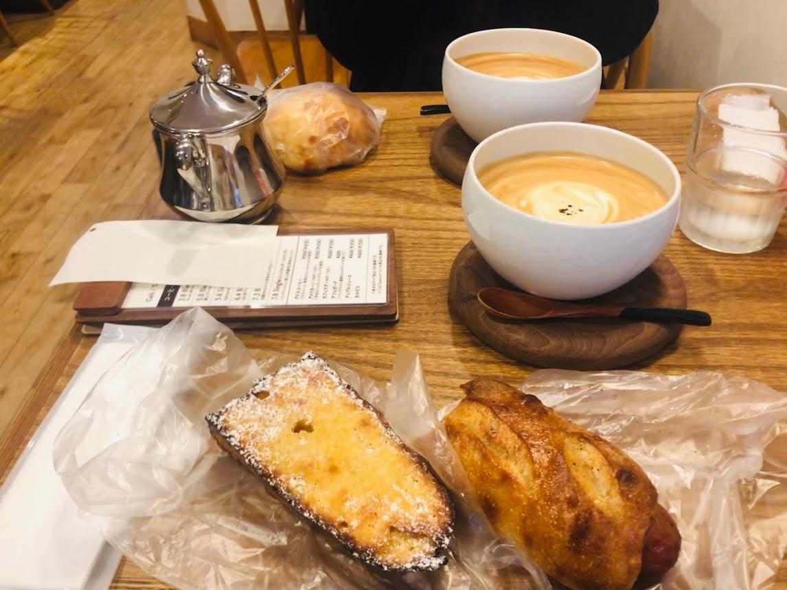 マツパンのパンとCOFFEEMANのカフェオレ