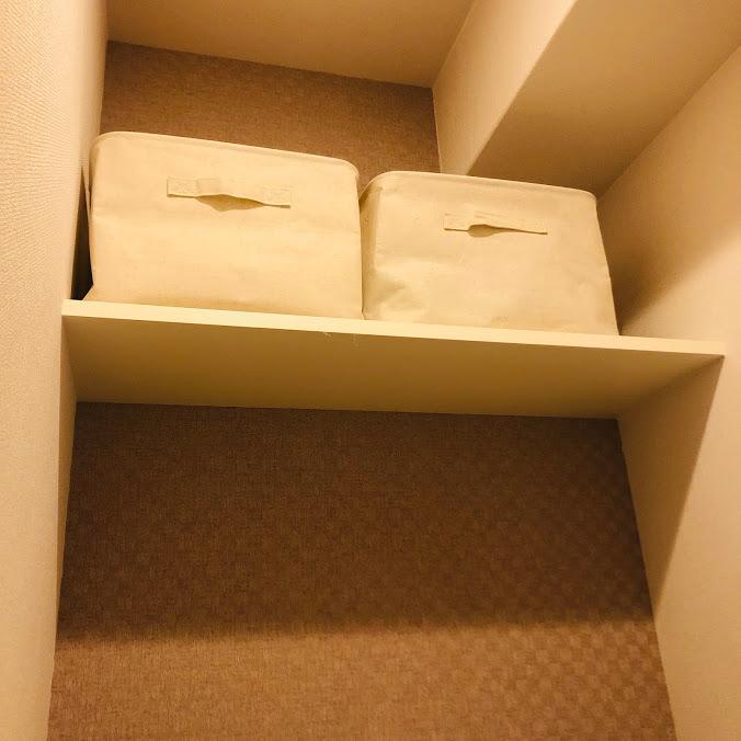 トイレの収納_無印ソフトボックス
