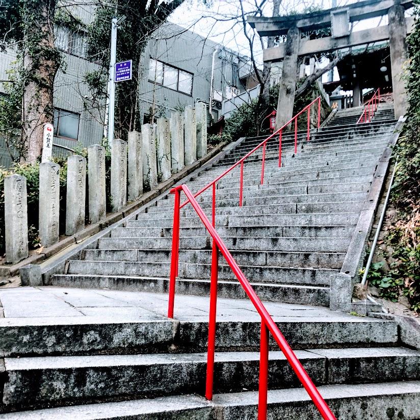 福岡愛宕神社参道