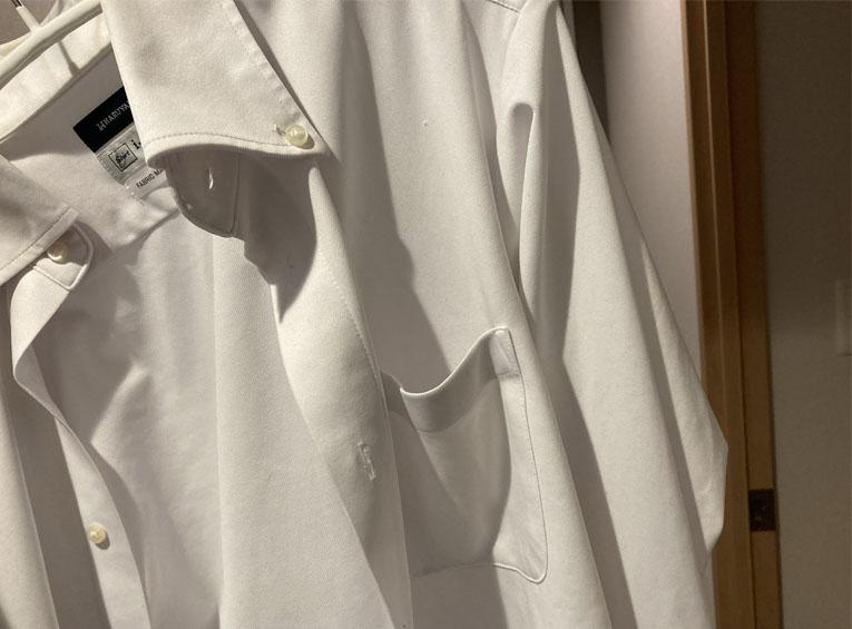 アイシャツ洗濯後