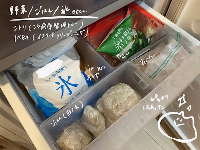 冷凍庫の収納_ケース_ご飯_氷_野菜