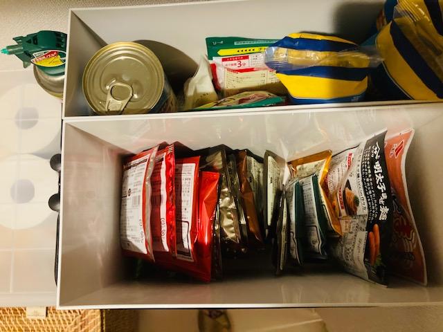 食品の収納_無印ファイルボックス