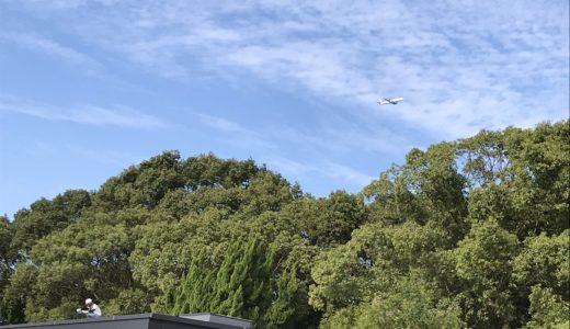 福岡_飛行機が見える風景